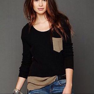 We The Free People Colorblock Double Time Thermal